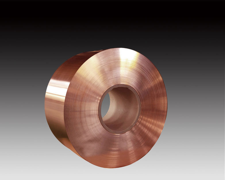 Copper strip for calendering copper foil