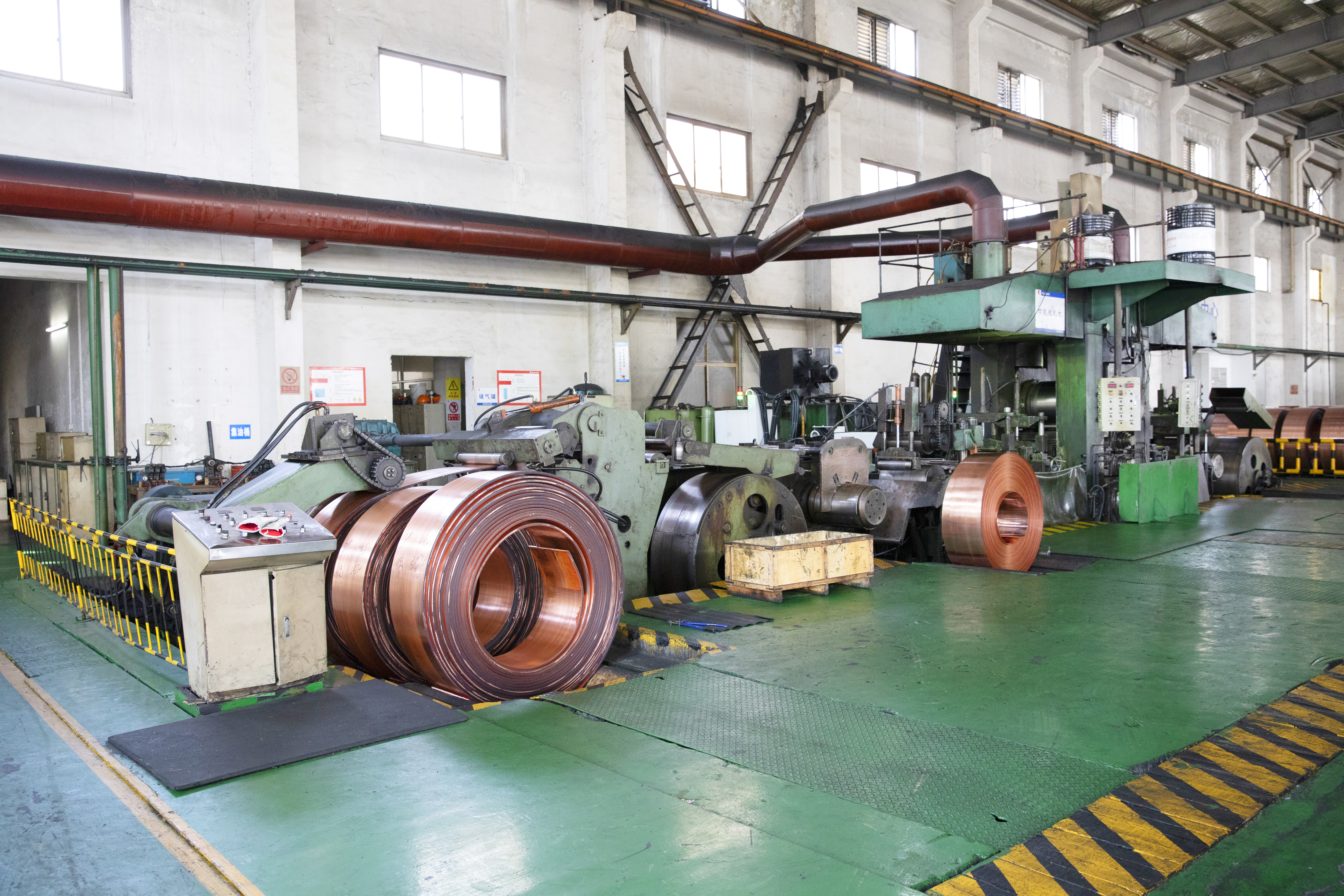 What are the main production process of copper strip