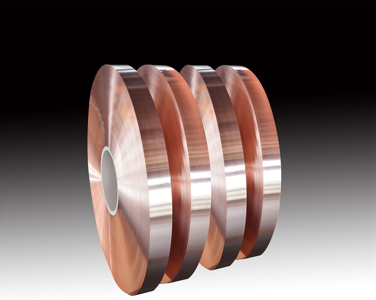Copper strip for radio frequency cable