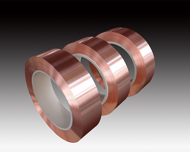 Copper strip for heat exchanger